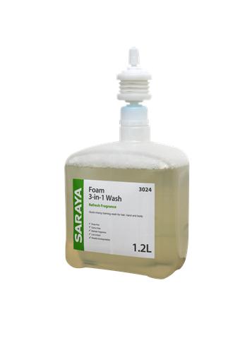 Saraya Foam 3-in-1 Wash Refresh Fragrance 1.2L
