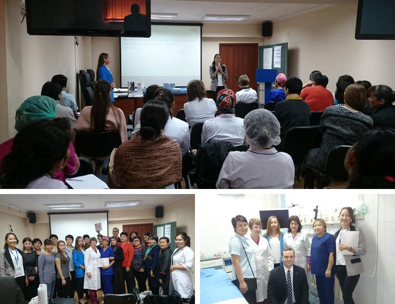 Saraya CIS endoscope workshop at the Central Asian Gastroenterology Week