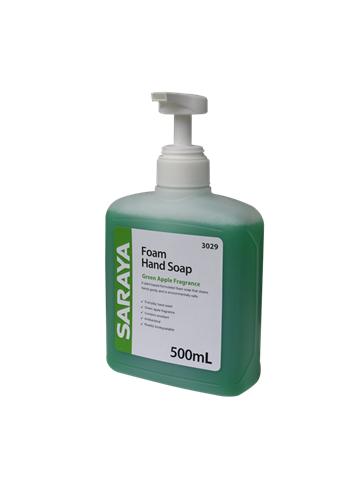 Saraya Foaming Soap Green Apple 500mL